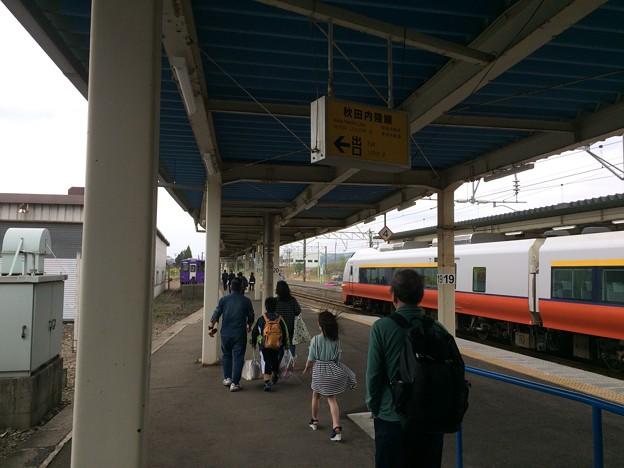 鷹ノ巣駅11 ~秋田内陸縦貫鉄道ホームへ~