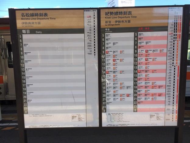 松阪駅9 ~時刻表~
