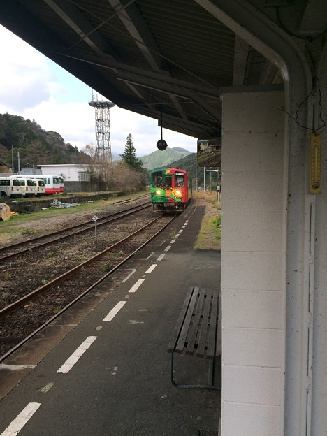 江川崎駅14 ~ホビートレイン入線~