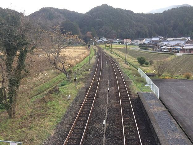 吉野生駅8 ~跨線橋から窪川方面を望む~
