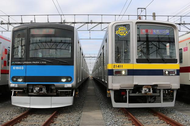 野田線60000系 61603F・東武本線20400系 21411F