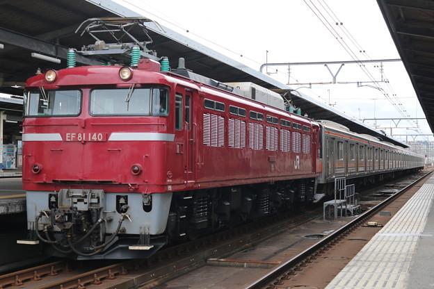 EF81 140+武蔵野線205系5000番台 M26編成 配給回送(ジャカルタ行)