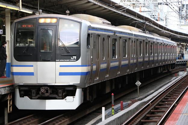 横須賀・総武快速線E217系 Y-111編成 出場回送