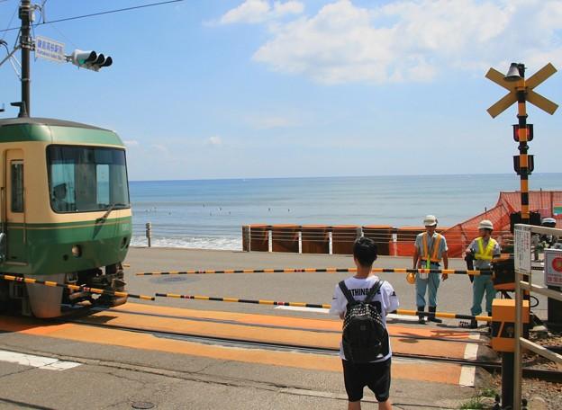 江ノ電と湘南の海