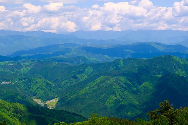 山々のグラデーション