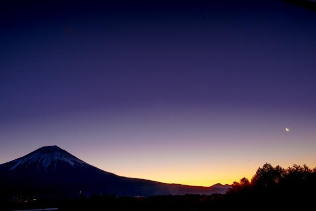 夜明け前の田貫湖