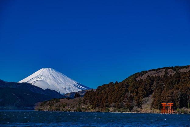 芦ノ湖から