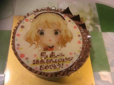 18歳の誕生日ケーキ