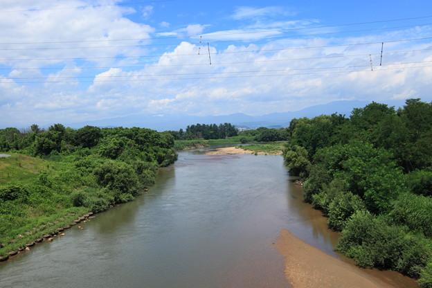 水管橋より望む須川終点