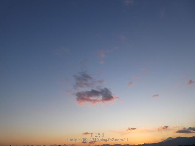 写真: 180205-富士山(夕) (1)