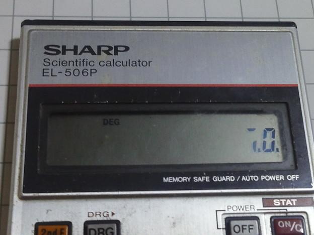 【12022号】関数電卓 平成290523 #NPS3