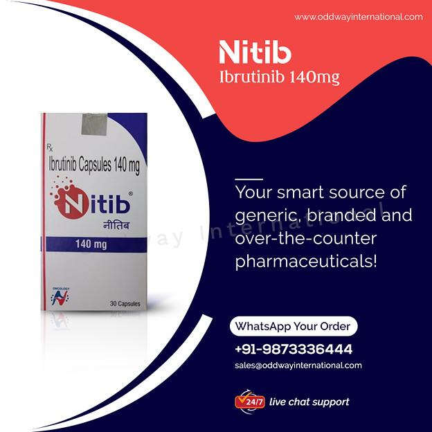 NITIB140MGイブルチニブカプセルをインドで最高の価格で