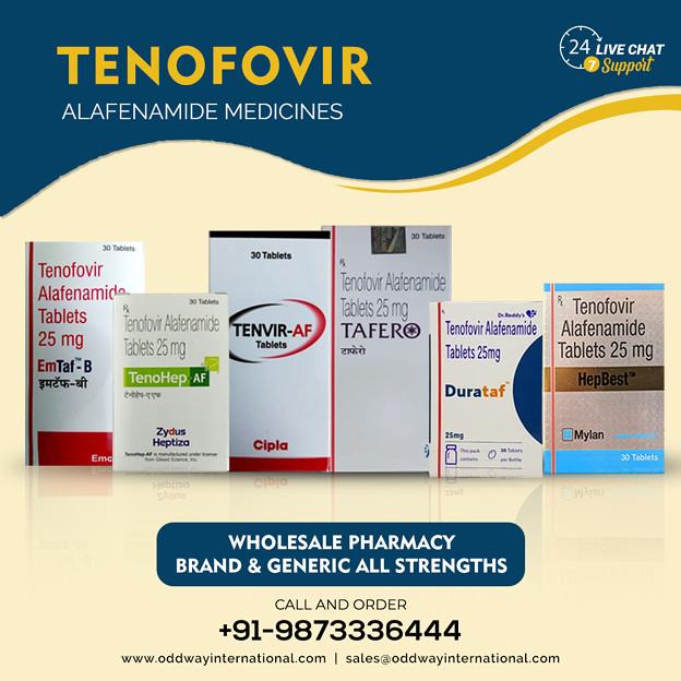 インドのジェネリックテノホビルアラフェナミド25mg医薬品バルクサプライヤー
