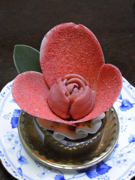 チョコケーキの花