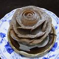 マロンケーキの薔薇