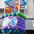 写真: ウチワの七夕飾り