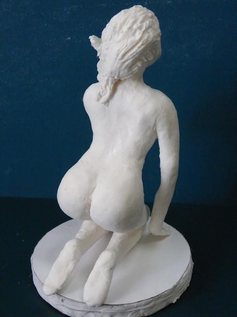 紙粘土人形裸婦2後