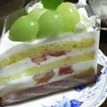 写真: シャインマスカットケーキ