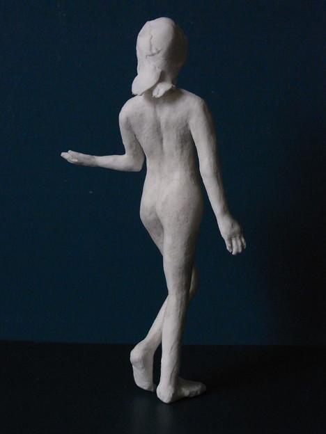 裸婦人形12 日本舞踊ポーズ1後ろ