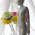 Photos: 紙粘土人形 裸婦16 横逆光