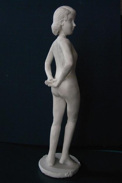 紙粘土人形30 裸婦 背組手後