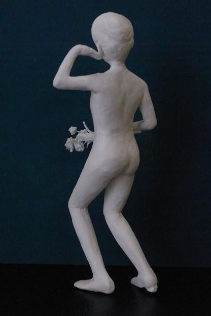 紙粘土人形裸婦像53 日本舞踊 後