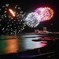 Photos: 熱海の花火 海面の映り込み