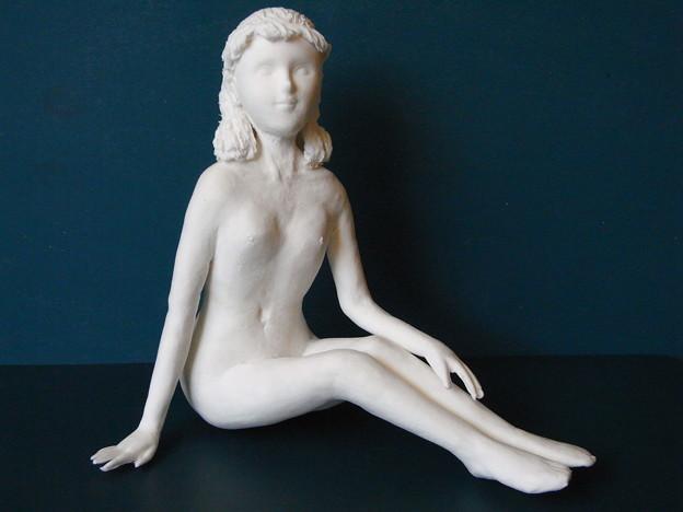 紙粘土人形裸婦像58 前