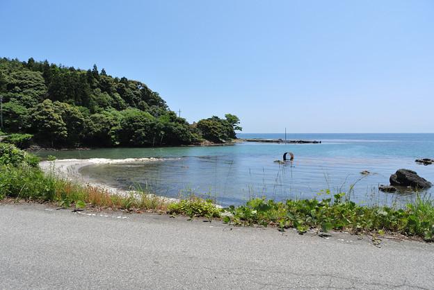 写真: 穴水町沖波から見る海2
