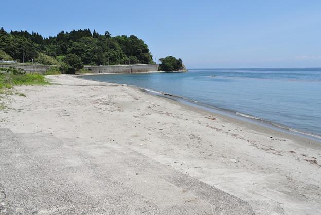 羽根海岸の砂浜