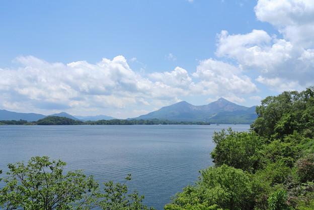 桧原湖から見る裏磐梯