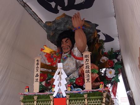 36 博多祇園山笠 西流 舁き山 剛力一投破漆黒(ごうりきいっとうしっこくをやぶる)2012年 写真画像9