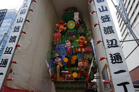 博多祇園山笠 2017年 飾り山 渡辺通一丁目 愛と勇気のアンパンマン (4)