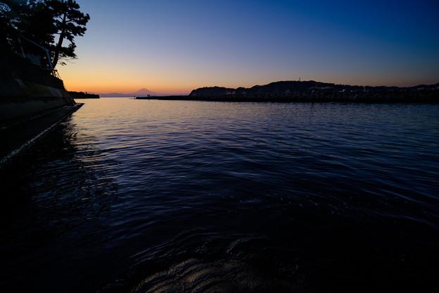 渚橋からの夕焼け