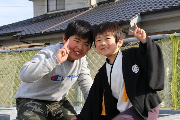 写真: 従兄とお兄ちゃん