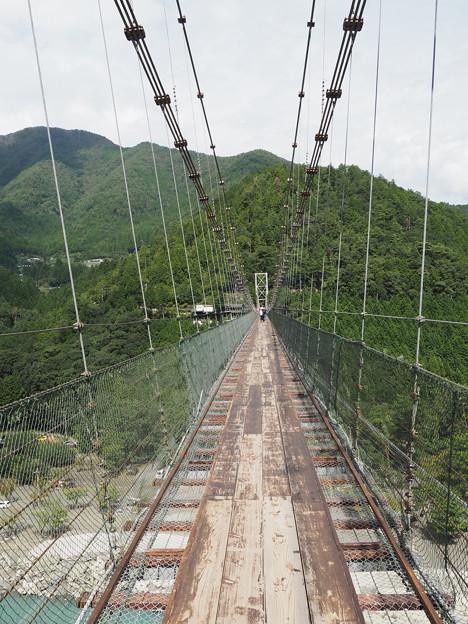 谷瀬のつり橋・中ほど