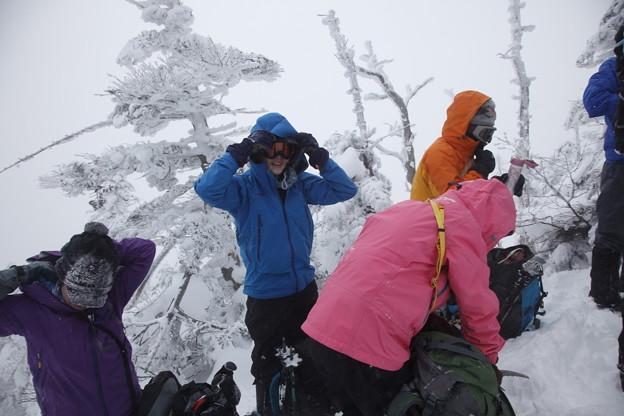 日本の山 雪山講習会S1 蓼科山 森林限界を超える前の身支度