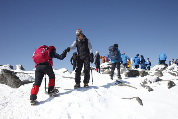 日本の山 雪山講習会S1 蓼科山 山頂到着