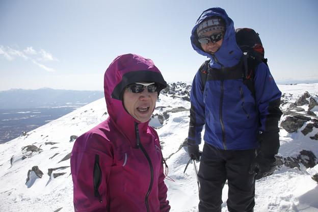 日本の山 雪山講習会S1 蓼科山 山頂到着です