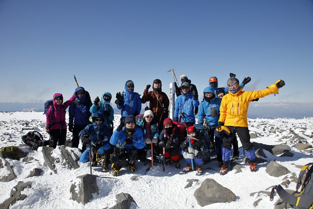 日本の山 雪山講習会S2 蓼科山 風もあまりなく絶好の雪山日和りです #山へ行こうよ。