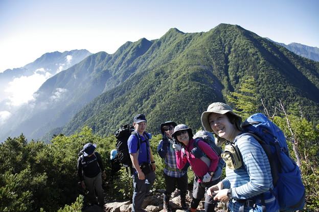 日本の山 甲斐駒ヶ岳 仙水峠を過ぎて