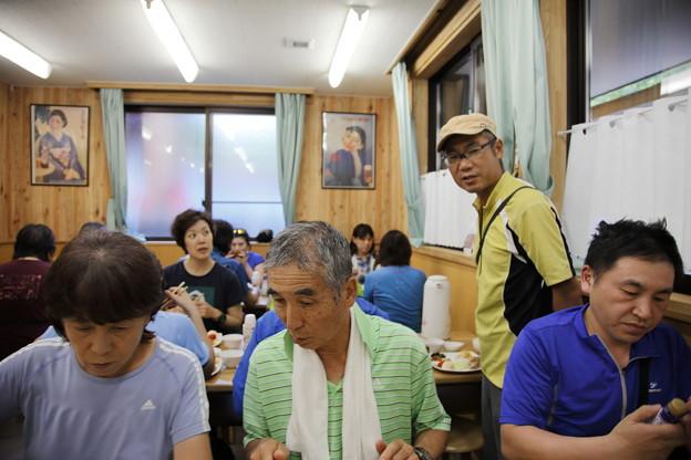 日本の山 甲斐駒ヶ岳 長衛荘夕食時