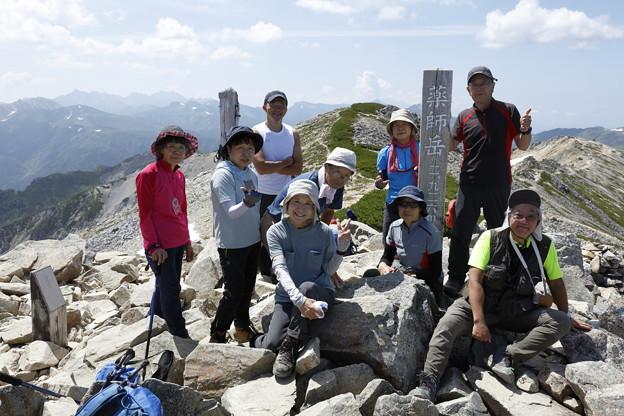 日本の山 山の天気講座 薬師岳 槍をバックに薬師岳です