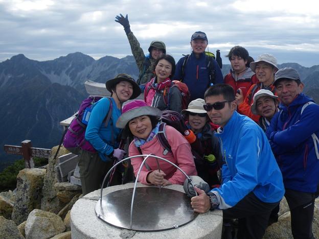 燕岳から常念岳 常念岳山頂