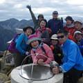 写真: 燕岳から常念岳 常念岳山頂