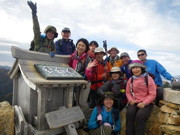 燕岳から常念岳 常念岳全員登頂!