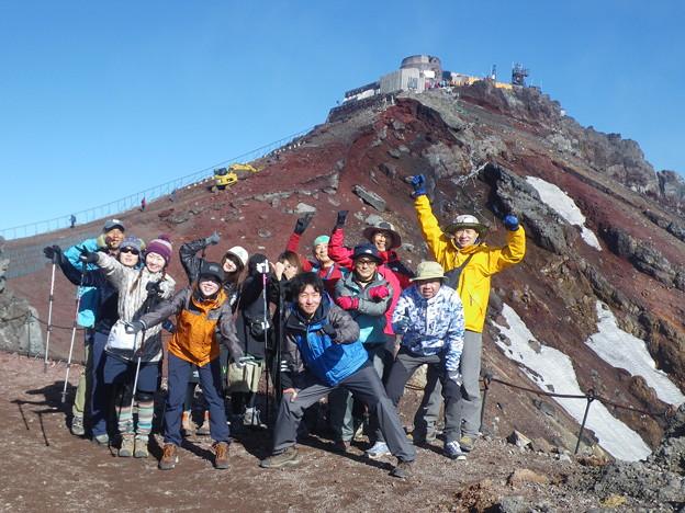 東北の高校生の富士登山2019応援登山 剣が峰をバッツクに!
