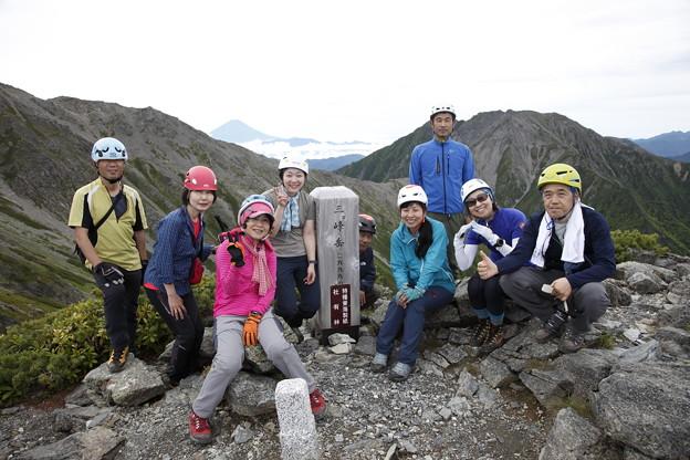 日本の山 間ノ岳、北岳3日間 一峰目の三峰岳です