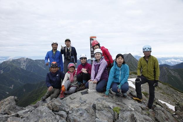 日本の山 間ノ岳、北岳3日間 間ノ岳山頂です