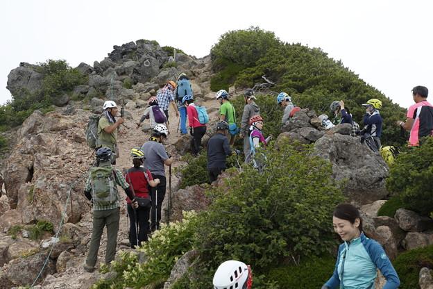 日本の山 次晴登山部 御嶽山 摩利支天の分岐